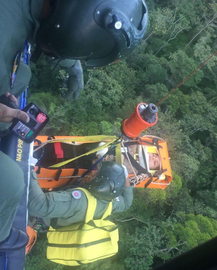 Grupamento Aéreo da PM resgata turista na Chapada Diamantina