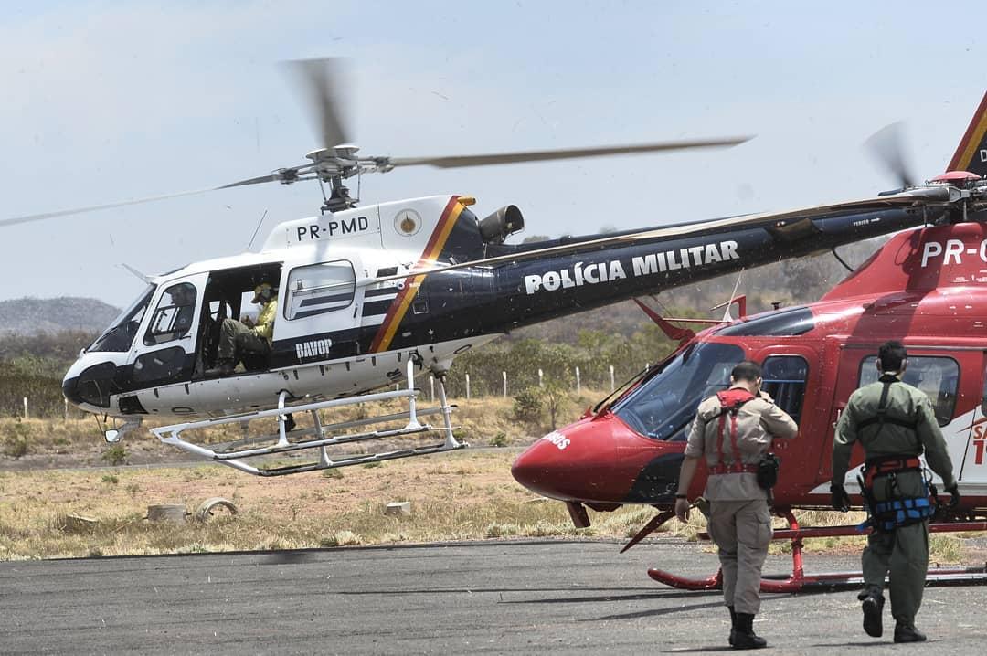 Movimentação de aeronaves no aeroporto de Alto Paraíso de Goiás, destinados a ajudar o combate do incêndio na Chapada dos Veadeiros - Crédito: Breno Fortes/CB/DA Press - @breno_fortes