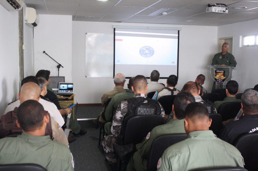 Tenente Coronel PM Renato Lima, Comandante do GRAer, realizou exposição sobre o Programa RPAS na PMBA.