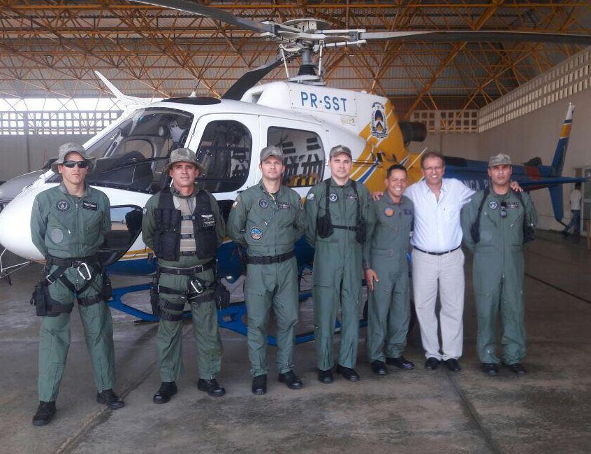 O Tenente Coronel BM Hofmann realizou a avalização prática do Capitão PMTO Dalla e do Delegado Charles.