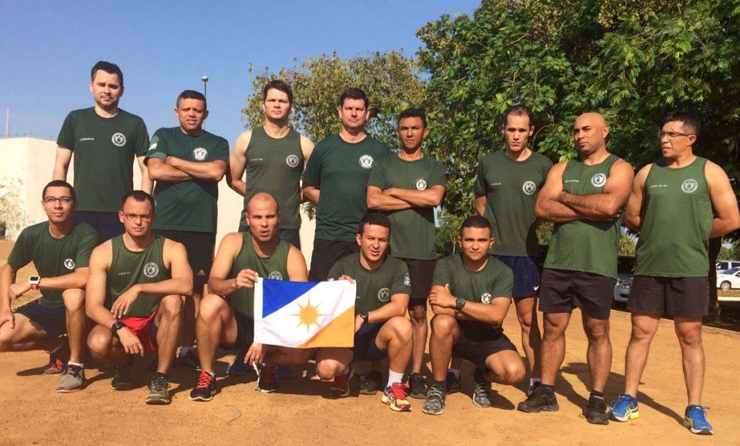 Integrantes do CIOPAER/TO realizam treinamento físico em Palmas