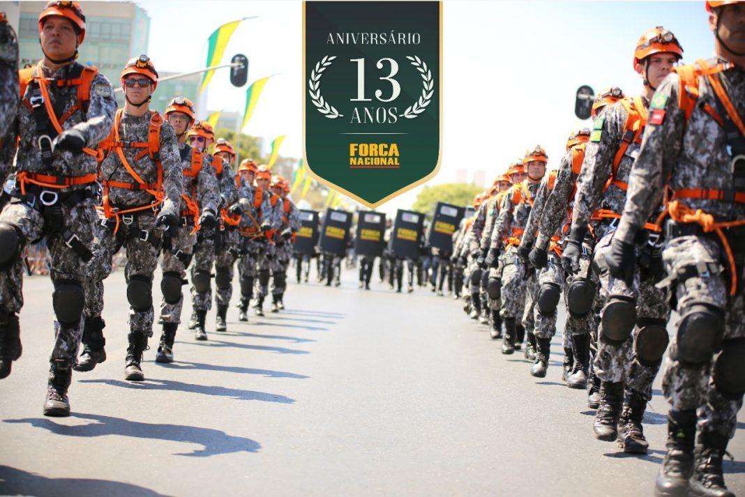 Força Nacional comemora 13 anos e homenageia profissionais de segurança