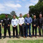 Equipe Dronepol com funcionários da Dahua. Foto: GCM/Dronepol.