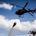 Combate a incêndio em Araquari. Foto: Maykon Lammerhirt do grupo NSC.