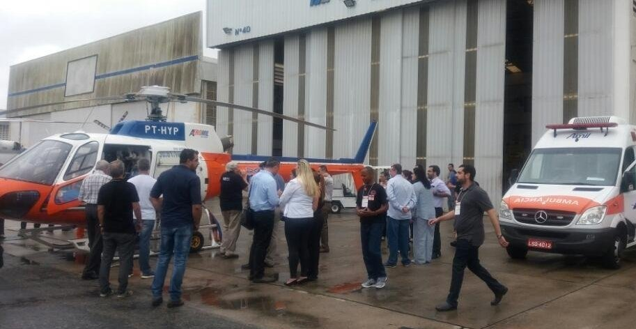 Airbus Foundation apoia 3º Curso de Salvamento, Resgate e Transporte Aeromédico no Rio de Janeiro. Foto: Helibras.