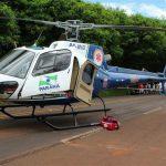 Serviço Aeromédico do SAMU completa um ano de atividade em Maringá e região. Foto: SAMU.