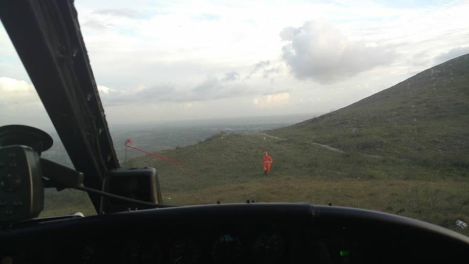 GTA realiza busca e resgata mulher na Serra da Miaba em Sergipe. Foto GTA.