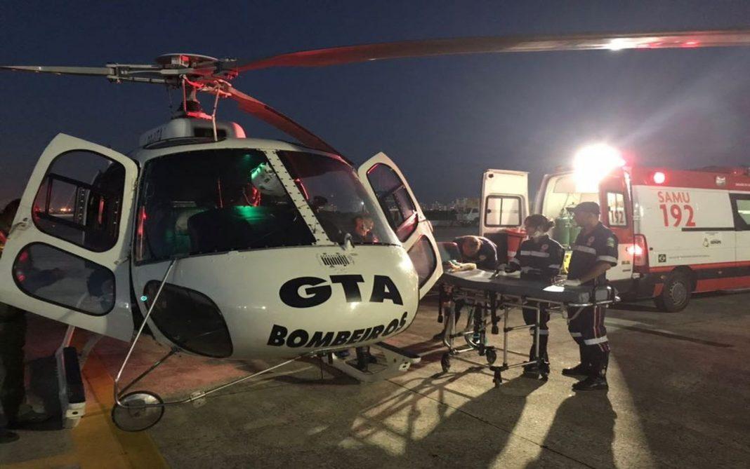 Grupamento Tático Aéreo resgata vítimas de queda de caixa d'água em Sergipe