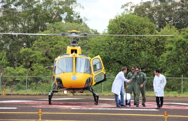 Helicóptero do Detran/DF transporta coração vindo do Rio de Janeiro