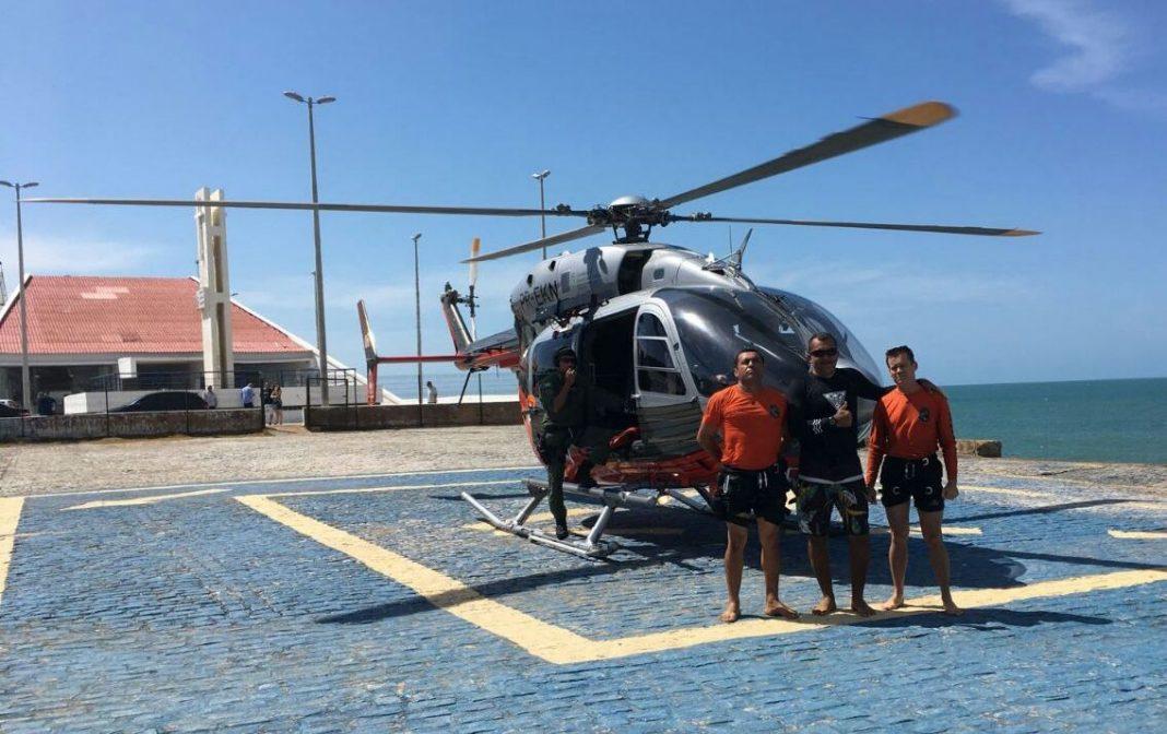 Agentes a bordo da aeronave Fênix 06 localizaram Vilemar e o trouxeram de volta à terra. ( Foto: Reprodução )