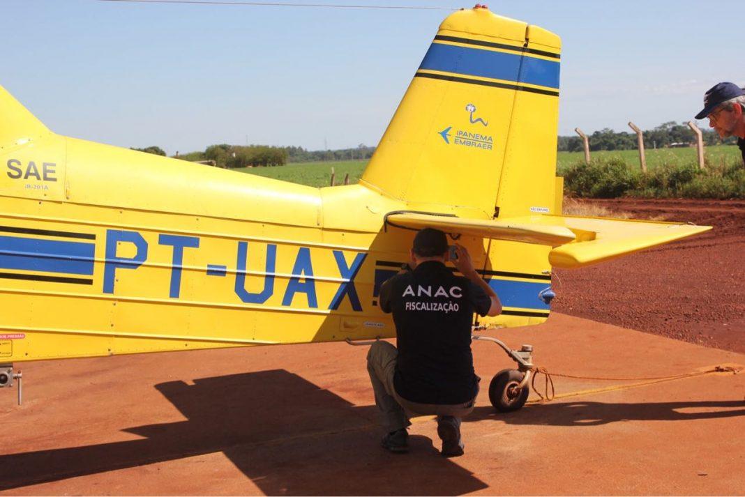 Operação Deriva II: Fiscalização conjunta interdita oito aeronaves agrícolas em MS