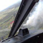 Combate a incêndio em Araquari. Foto: BAPM/SC