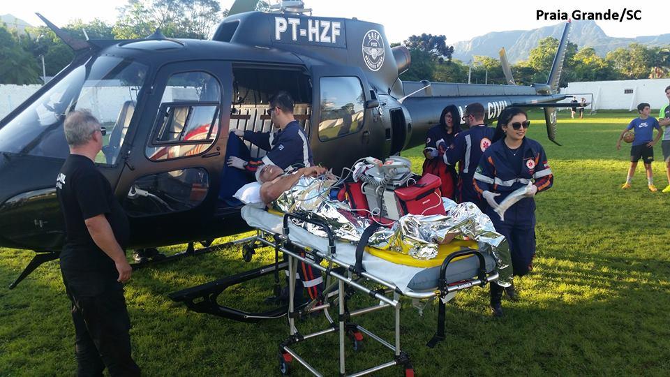 SAER da Polícia Civil em ação - De transporte de pacientes a treinamento de bombeiros civis. Foto: SAER/Sul