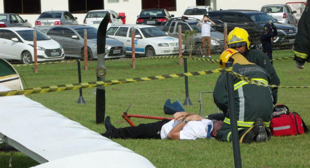 A vítima com ferimento mais grave foi conduzida ao hospital Foto: Corpo de Bombeiros Militar de Blumenau