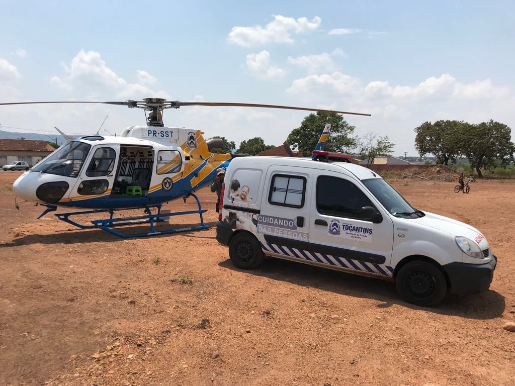 Helicóptero da Segurança Pública em operação. Foto: Divulgação.