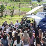 Regional de Saúde realiza treinamento na Uningá com presença do helicóptero do SAMU. Foto: Douglas Marçal/UNINGÁ.