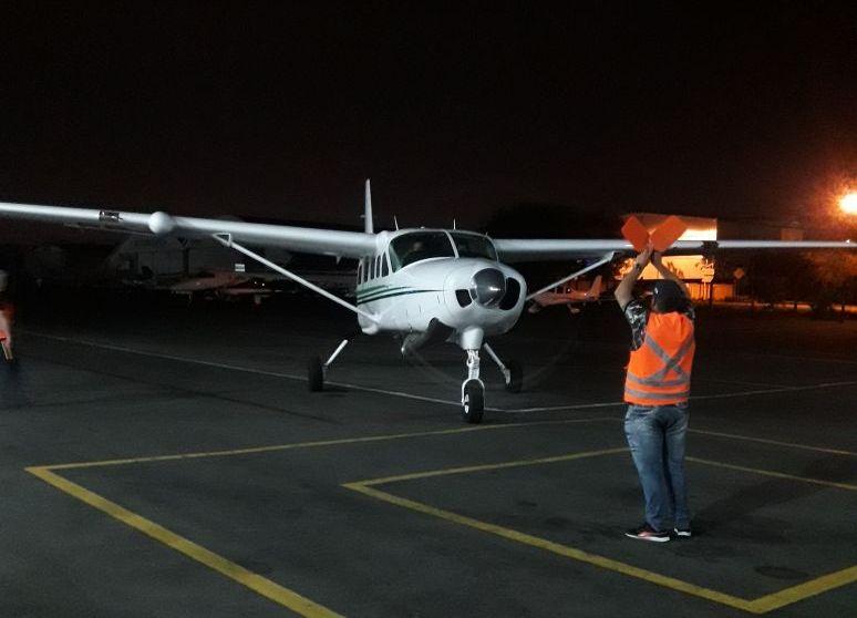 Seção de Transporte Aéreo da Casa Militar do Paraná transporta coração de Londrina para Curitiba