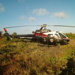 Helicóptero Acauã 01 resgata turistas perdidos na Praia de Carapibus, em Conde, PB