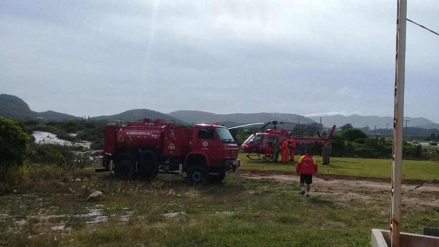 Heliponto foi instalado ao lado do destacamento no Pórtico da cidade. (Foto: divulgação/Prefeitura de Arraial do Cabo)