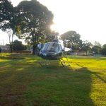 Helicóptero do Consamu resgatou vítima em estado grave após choque elétrico