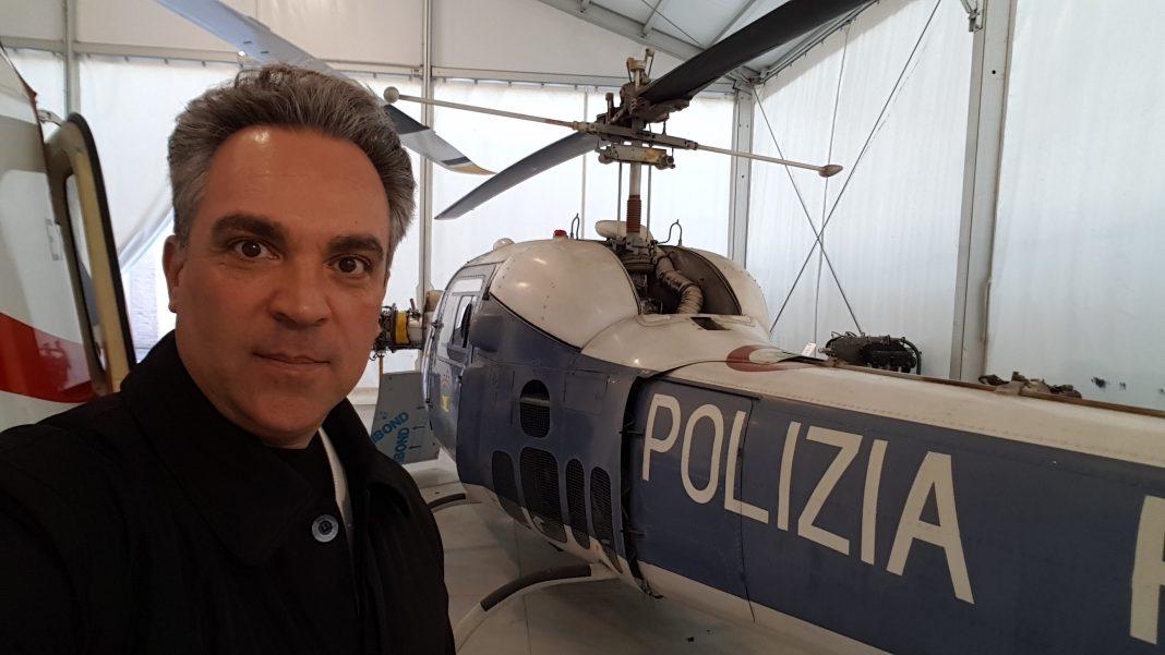 Mauro Beni no Museu Agusta.