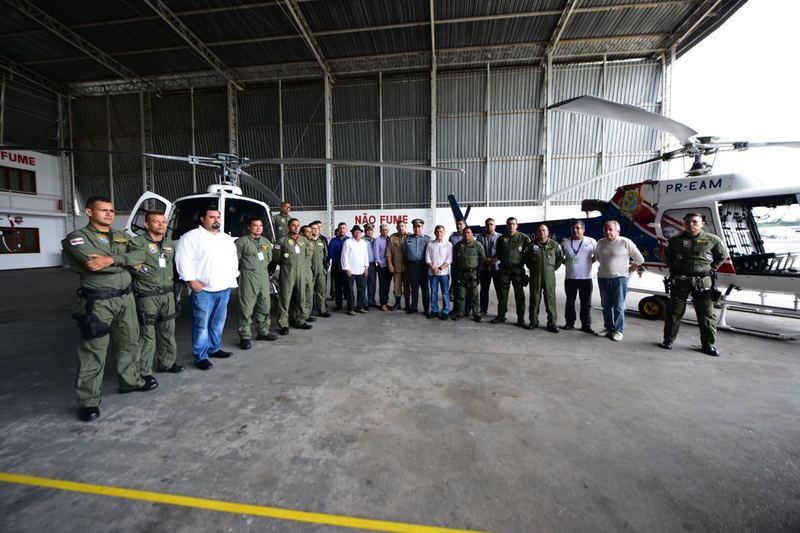 SSP-AM retoma policiamento com aeronaves após dois anos sem o serviço no Estado. Foto: Bruno Zanardo