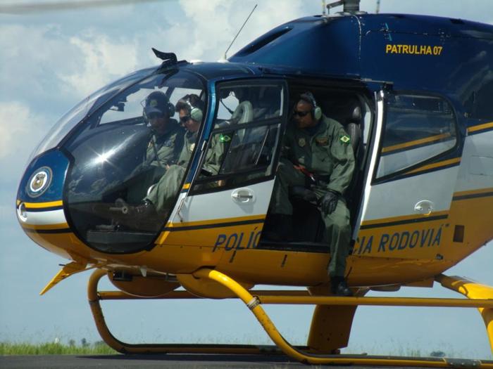 Helicóptero EC120B Colibri da PRF que deverá ser empregado em Atibaia e região.