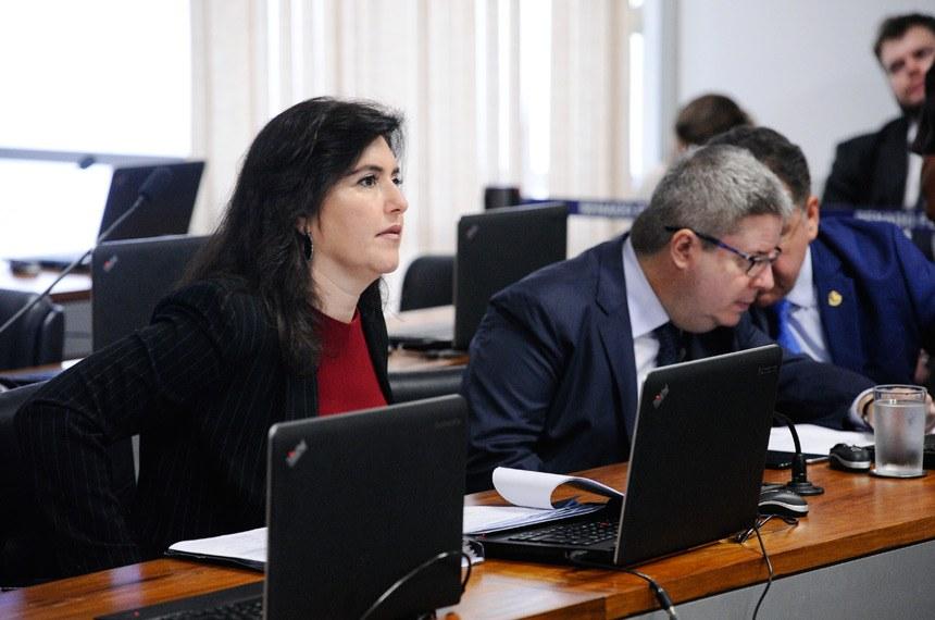 A relatora, senadora Simone Tebet, modificou o texto para retirar a imposição ao Poder Público de dotar os órgãos de segurança pública de VANTs Marcos Oliveira/Agência Senado