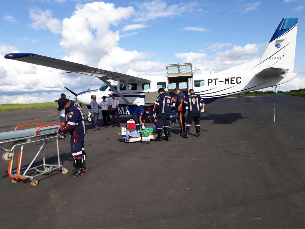 Cessna Grand Caravan do serviço aeromédico realizado por uma empresa de táxi-aéreo contratada pelo Estado.