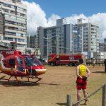 Bombeiros e Samu realizam treinamentos com o helicóptero Arcanjo e em simulador