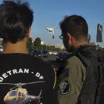 Em fase de testes, drones do Detran-DF identificaram 382 infrações. Foto: Toninho Tavares/Agência Brasília