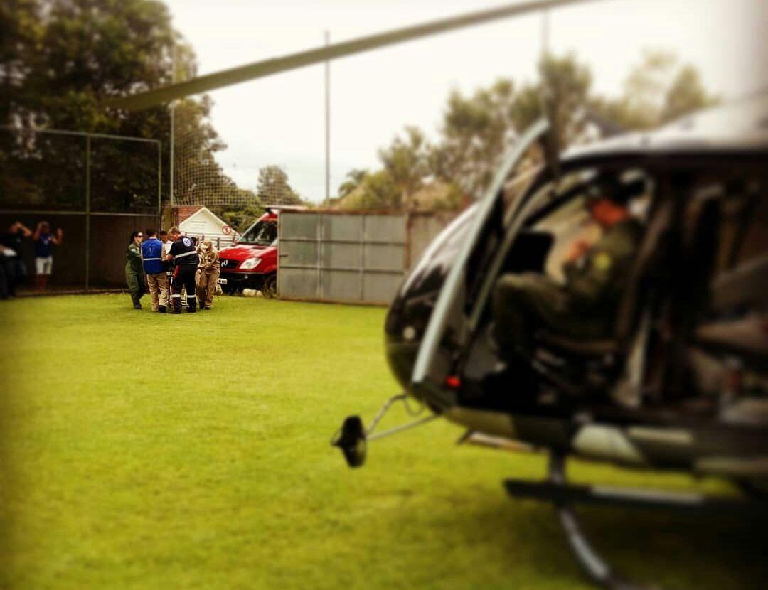 Batalhão de Operações Aéreas da PM é acionado para resgatar vítimas em Curitiba e Região Metropolitana. Foto: BPMOA.