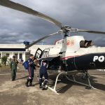Helicóptero do GTA/SE transporta paciente grave do Hospital Regional de Lagarto