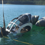 Helicóptero na água (Foto:  TWO BEAR AIR 2 LLC (Operador))