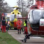 Helicópteros de resgate usados na operação. Foto: dpa German Press Agency GmbH