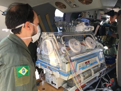 CIOPAER realiza transporte aeromédico de recém-nascido de Juazeiro do Norte para Fortaleza