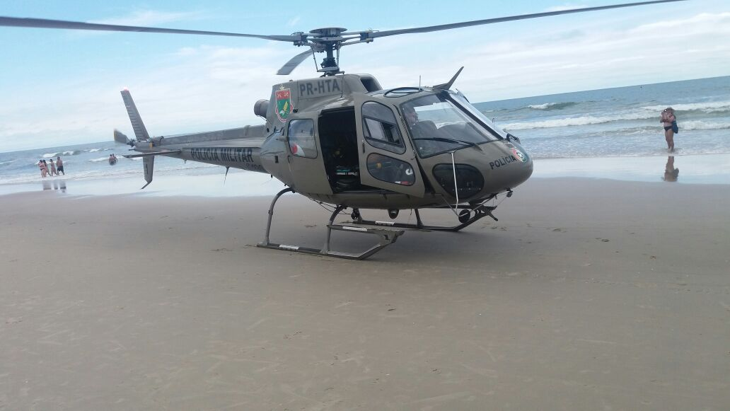 Mulher vítima de afogamento é socorrido com auxílio do Helicóptero Águia 01