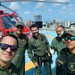 GTA de Pernambuco e SAMU realizam missão aeromédica no litoral sul do Estado