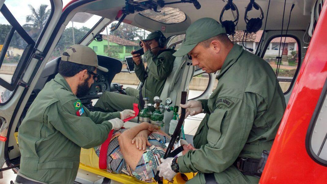 Samu Aeromédico é acionado para resgate no interior de Alagoas