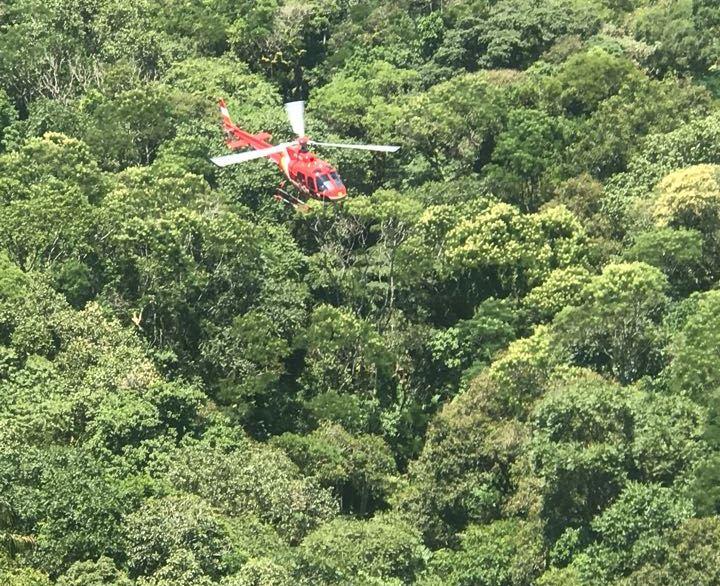 Equipe do Arcanjo 03 localiza e resgata piloto de ultraleve que se acidentou em Itapema