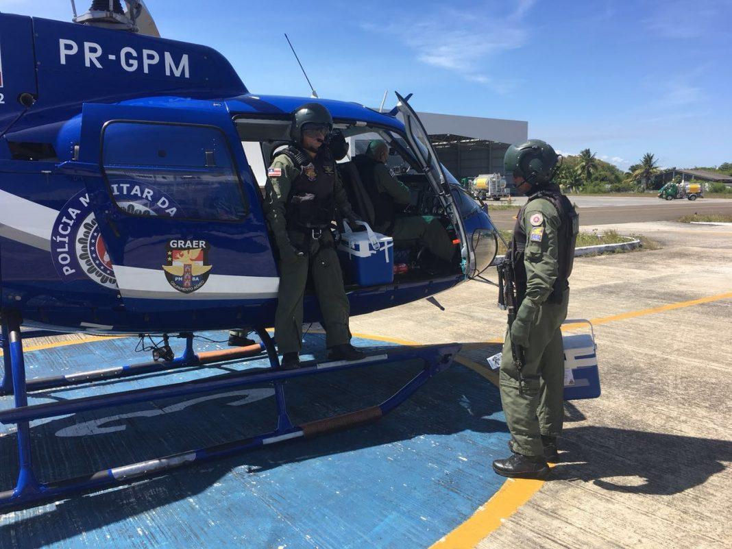 GRAER da PM da Bahia transporta órgãos para transplante