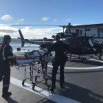 SAER e SAMU realizam transporte aeromédico de paciente de Laguna para Florianópolis