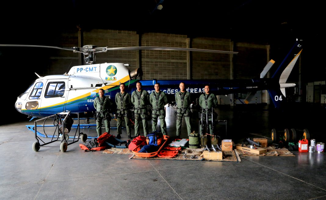 Profissionais já estão preparados para atuarem na base aérea de Sorriso. Lenine Martins / Sesp-MT.