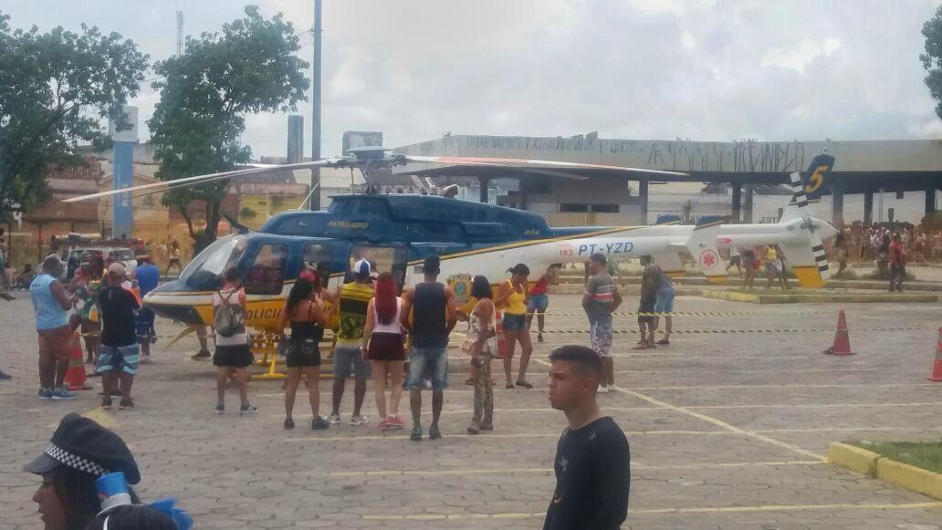Patrulha 05 da PRF prestou suporte aeromédico ao Galo da Madrugada, em Recife