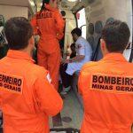 Com apoio do Corpo de Bombeiros e SAMU, Pégasus 16 da PM transporta bebê com má formação rara de Bonfinópolis para Belo Horizonte. Foto: Divulgação.