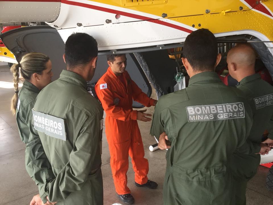 Novos tripulantes realizam treinamento e estágio no Batalhão de Operações Aéreas do CBMMG