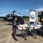 SAER da Polícia Civil e SAMU realizam transporte aeromédico de vítima de AVC para hospital de Curitibanos, SC