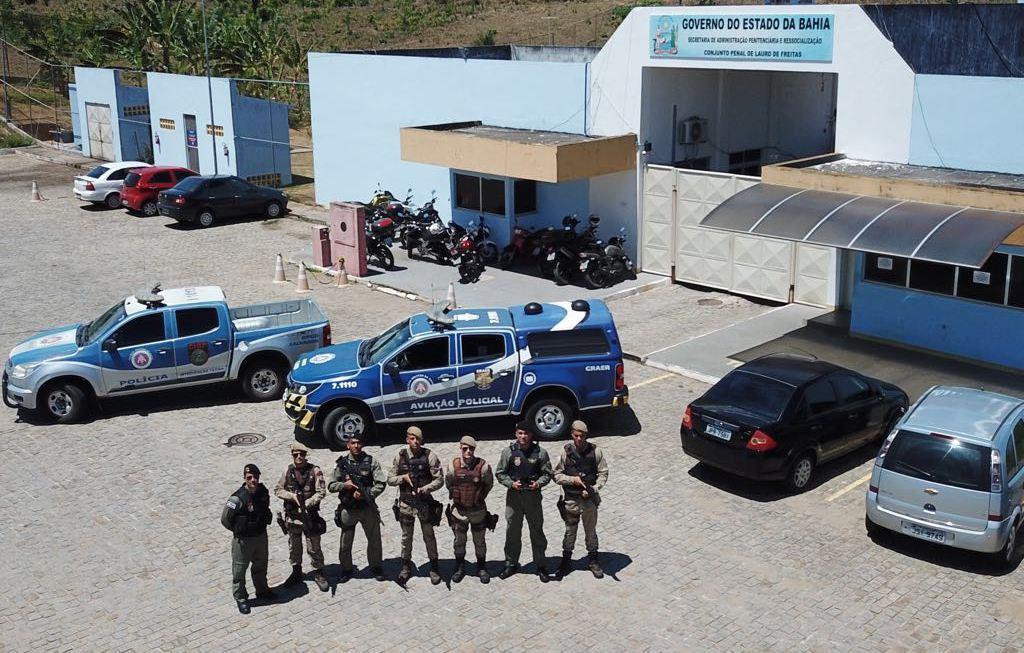 Equipe do GRAER da Polícia Militar que realiza as operações com o drone.