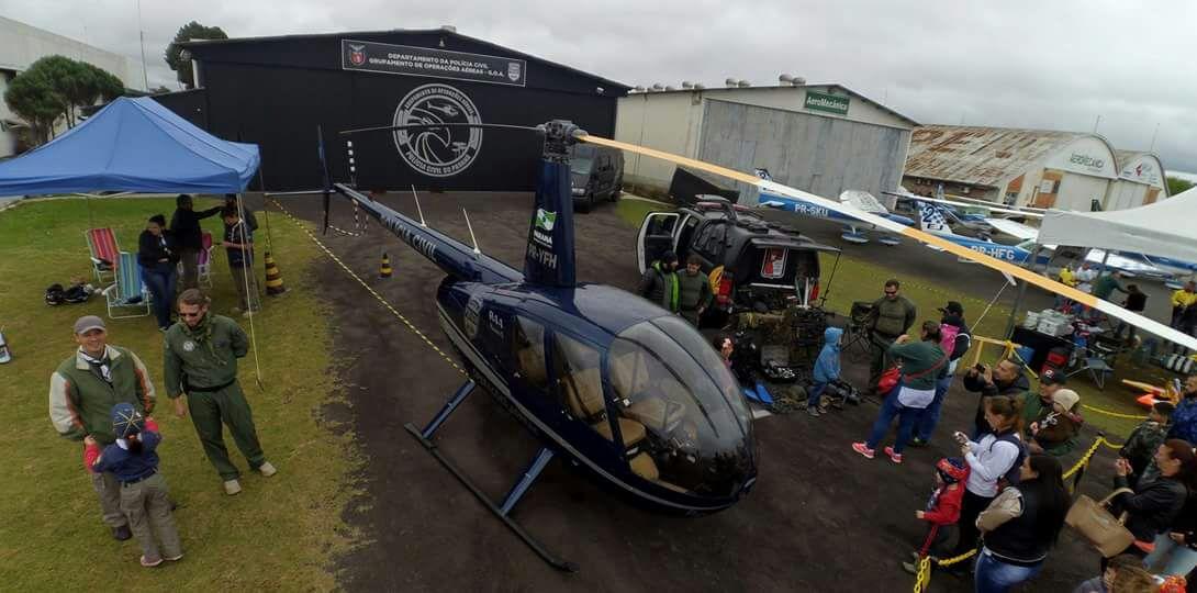 R44 e Hangar do GOA/PCPR