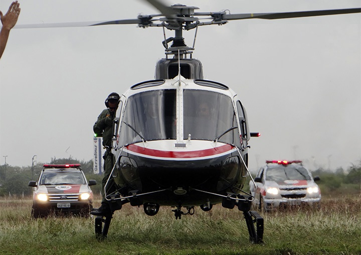 Os Helicópteros adquiridos são o AS350B3 (H125), versão mais moderna do helicóptero AS350B2, Acauã 01, do GTA da Paraíba. Foto Ascom PMPB.